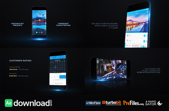 Mobile App Promo Kit Free Download After Effects Templates