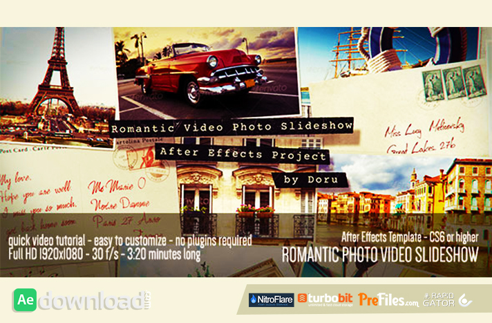 Romantic Photo Video Slideshow Free Download After Effects Templates