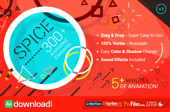SPICE - 300+ Animated Elements Free Download After Effects Templates