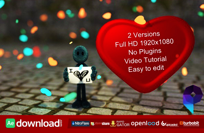 I love You free after effects templates
