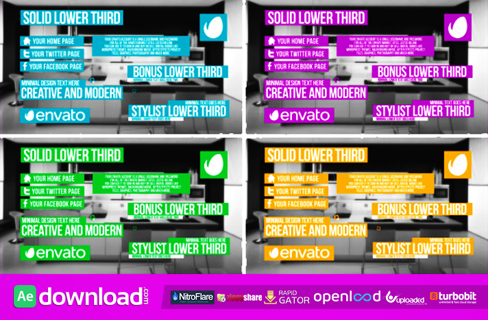 Solid Lower Third free download (videohive template)