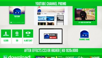 VIDEOHIVE YOUTUBE CHANNEL PROMOTION V2 - Free After Effects