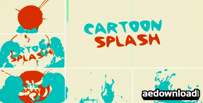 Cartoon splash logo