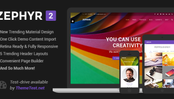 Zephyr v3 1 – Material Design WordPress Themes Free Download