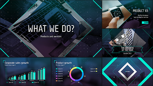 business presentation free download videohive template - free, Presentation templates