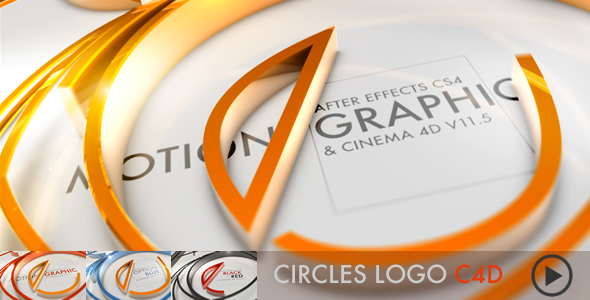 circles-logo-c4d-files - Free After Effects Template