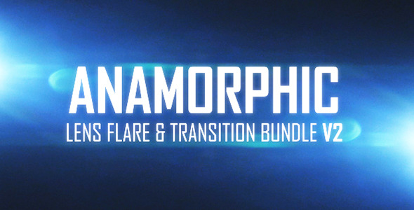 Anamorphic Lens Flare & Light Transitions Bundle V2 7922027 Videohive