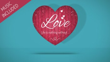 FALLING VALENTINE HEARTS - MOTION GRAPHIC (VIDEOHIVE) - Free After