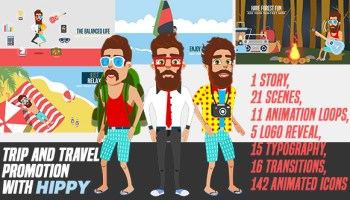 VIDEOHIVE ANIMATED TRAVEL ADVENTURE ELEMENTS - Free After Effects