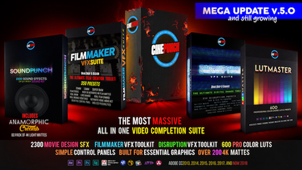 VIDEOHIVE CINEPUNCH MASTER SUITE V5.0 – ADD_ON - FREE