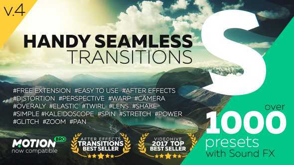 VIDEOHIVE HANDY SEAMLESS TRANSITIONS   PACK & SCRIPT V4 - Free After
