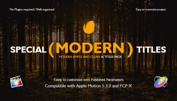 VIDEOHIVE FCPX MOTION TITLES PACK - APPLE MOTION TEMPLATES
