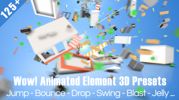VIDEOHIVE WOW! DYNAMIC ELEMENT 3D PRESETS