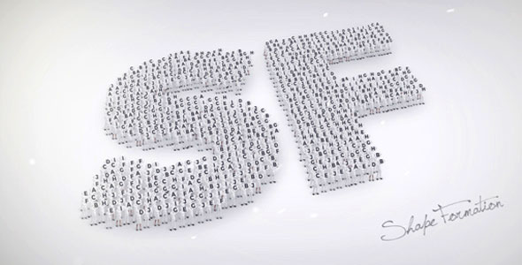 VIDEOHIVE SHAPE FORMATION - FREE AFTER EFFECTS TEMPLATE