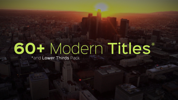 VIDEOHIVE MODERN TITLES AND LOWER THIRDS