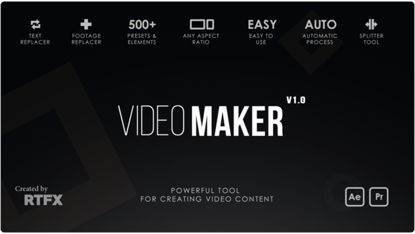 VIDEOHIVE VIDEO MAKER - AFTER EFFECTS TEMPLATE