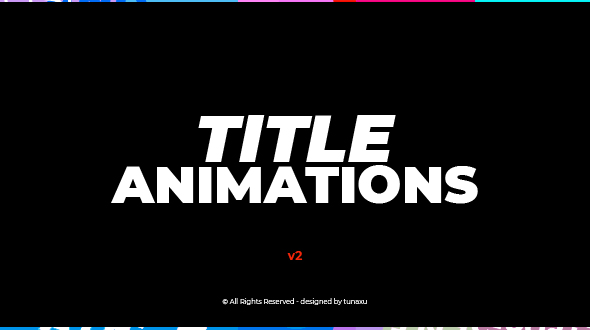 VIDEOHIVE TITLE ANIMATIONS