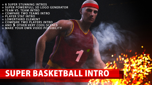 VIDEOHIVE SUPER BASKETBALL INTRO - Free After Effects