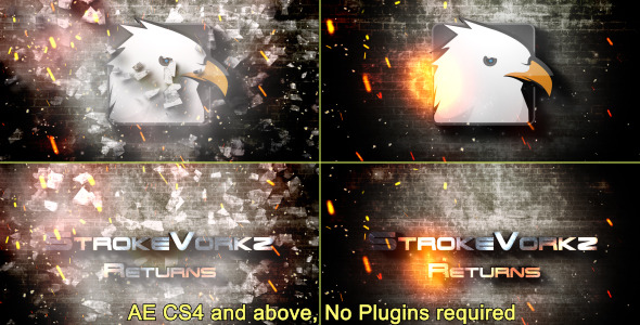 VIDEOHIVE CINEMATIC FIRE IMPACT LOGO