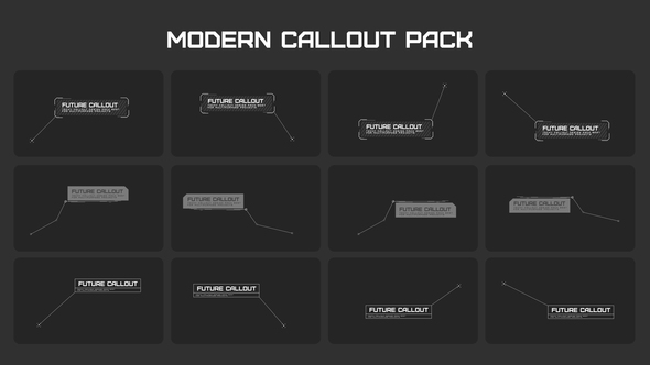 VIDEOHIVE MODERN CALLOUT PACKS