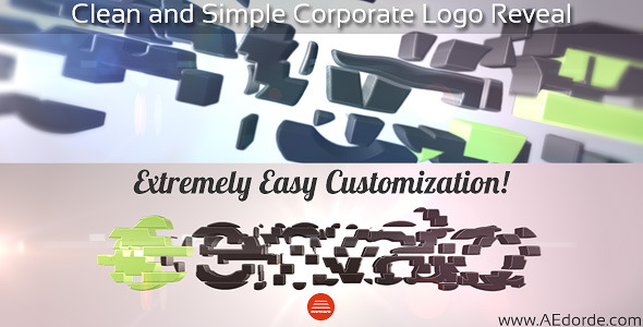 VIDEOHIVE CLEAN AND SIMPLE CORPORATE LOGO REVEAL