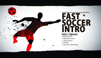 VIDEOHIVE SOCCER INTRO II   AFTER EFFECTS TEMPLATE - Free