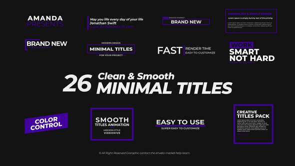 VIDEOHIVE TITLES PACK 21609637