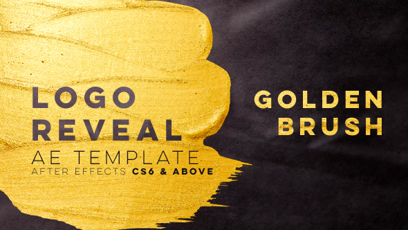 VIDEOHIVE GOLDEN BRUSH LOGO REVEAL
