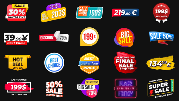 VIDEOHIVE ANIMATED LABELS & PRICES