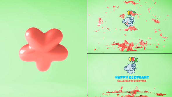 VIDEOHIVE BALLOON LOGO REVEAL