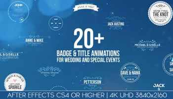 UNITY - WEDDING BADGE PACK - AFTER EFFECTS PROJECT (ROCKETSTOCK