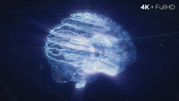 VIDEOHIVE DIGITAL AI BRAIN LOGO REVEAL