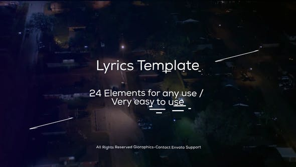 VIDEOHIVE LYRICS TEMPLATE AND ELEMENTS