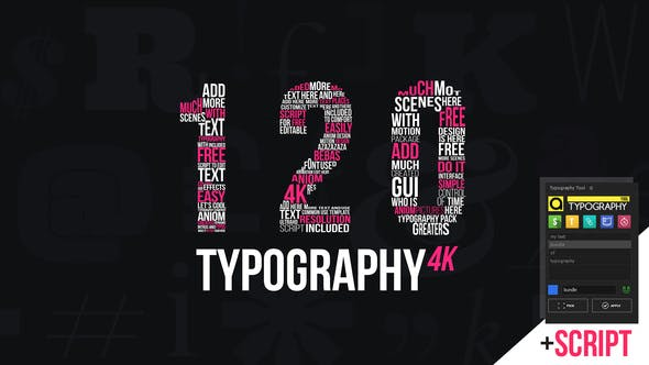 VIDEOHIVE KINETIC TYPOGRAPHY 4K PACKAGE | TYPOGRAPHY TOOL