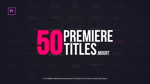 VIDEOHIVE MINIMAL TITLES | ESSENTIAL GRAPHICS – PREMIERE PRO