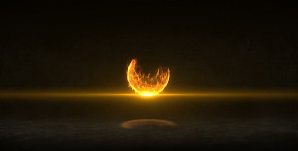 VIDEOHIVE FIRE BALL LOGO REVEAL
