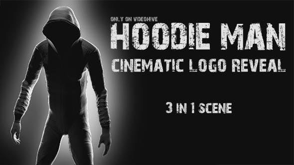 VIDEOHIVE HOODIE MAN - CINEMATIC LOGO REVEAL 3 IN 1