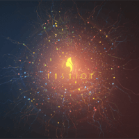 VIDEOHIVE PARTICLE BLAST LOGO