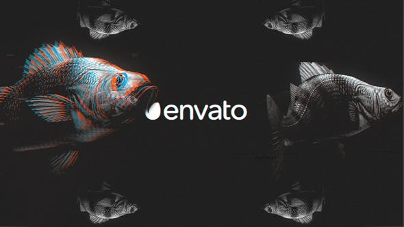 VIDEOHIVE FISH GLITCH LOGO REVEAL - Free After Effects Template