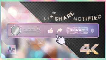 VIDEOHIVE YOUTUBE KIDS SUBSCRIBE BUTTON - Free After Effects