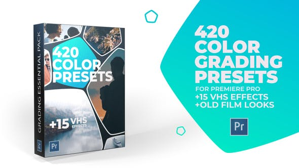 VIDEOHIVE 420 CINEMATIC COLOR PRESETS, 15 VHS VIDEO EFFECTS, OLD FILM LOOKS – PREMIERE PRO