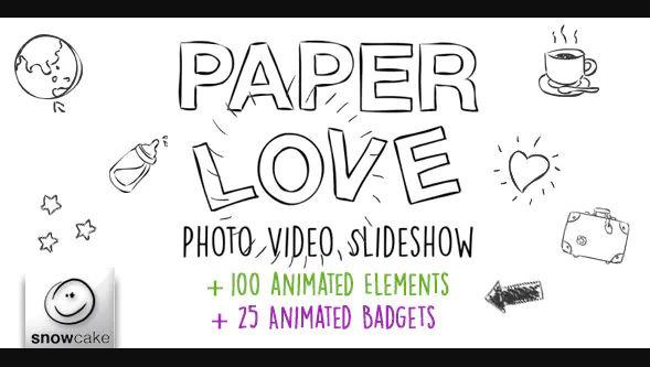 PAPER LOVE PHOTO VIDEO SLIDESHOW