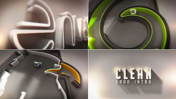 Videohive Clean Logo Intro