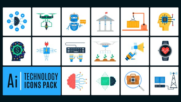 Ai Technology Icons Pack