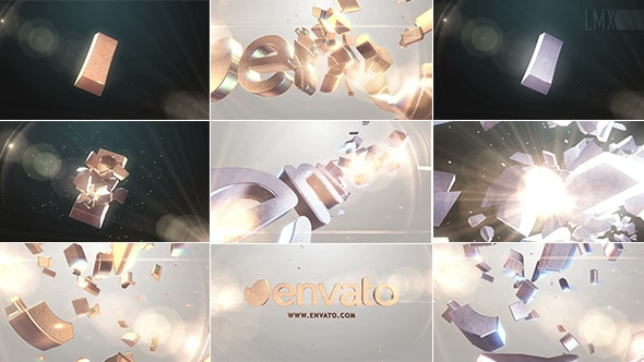 GOLD AND SILVER SHATTER LOGO