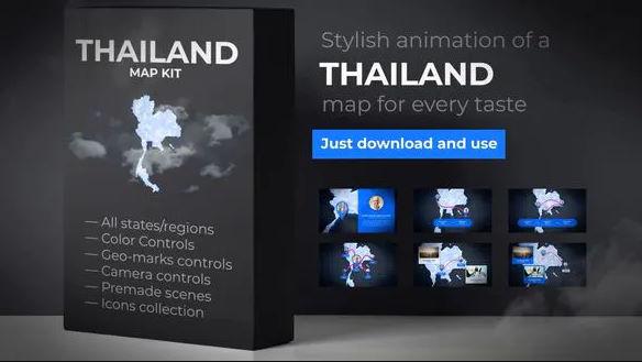 THAILAND ANIMATED MAP