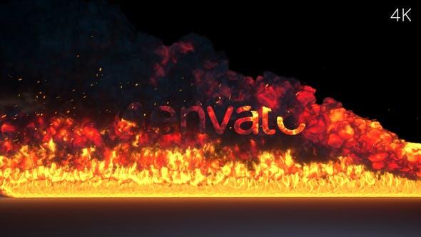 FIRE BURNING LOGO REVEAL