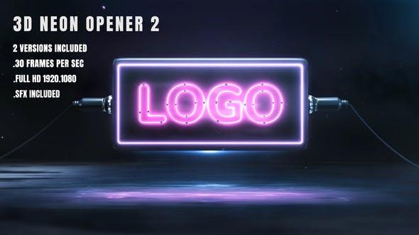 3D Neon Opener 2