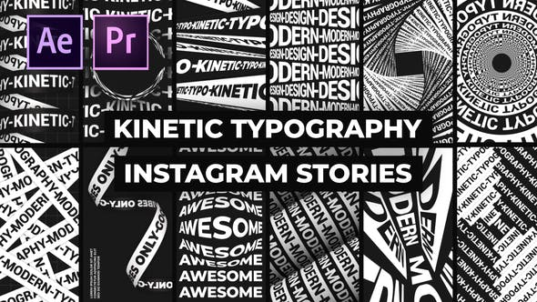 Kinetic Typography Instagram Stories