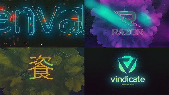 Cyberpunk Glitch Logo Reveal